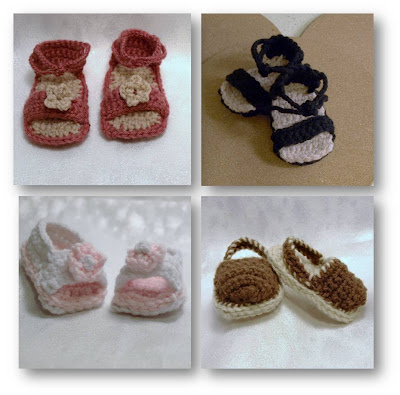 Strappy Summer Sandals - AllFreeCrochet.com - Free Crochet