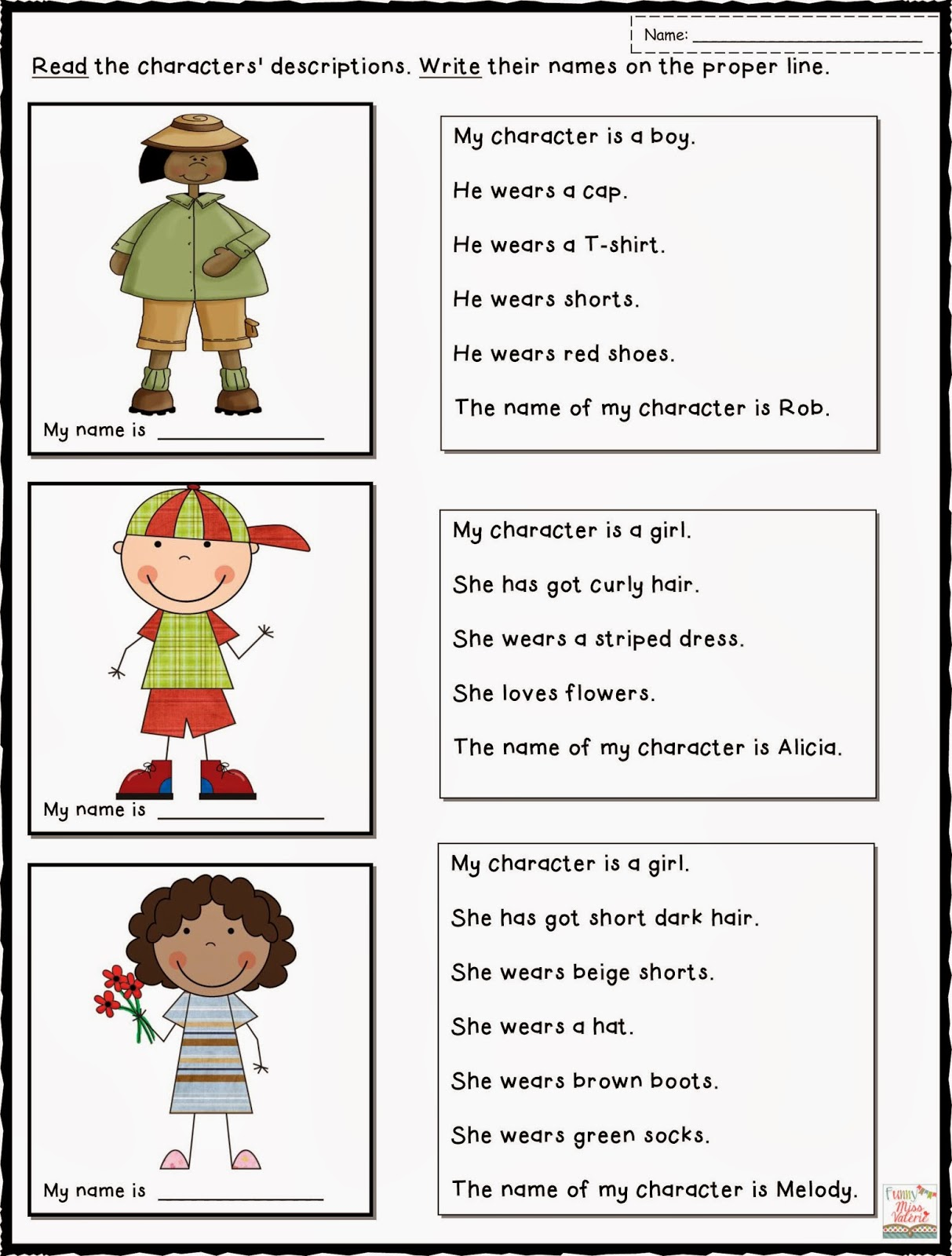 describing characters fact and opinion lessons teach funny miss valatildecopyrie clothing and describing people