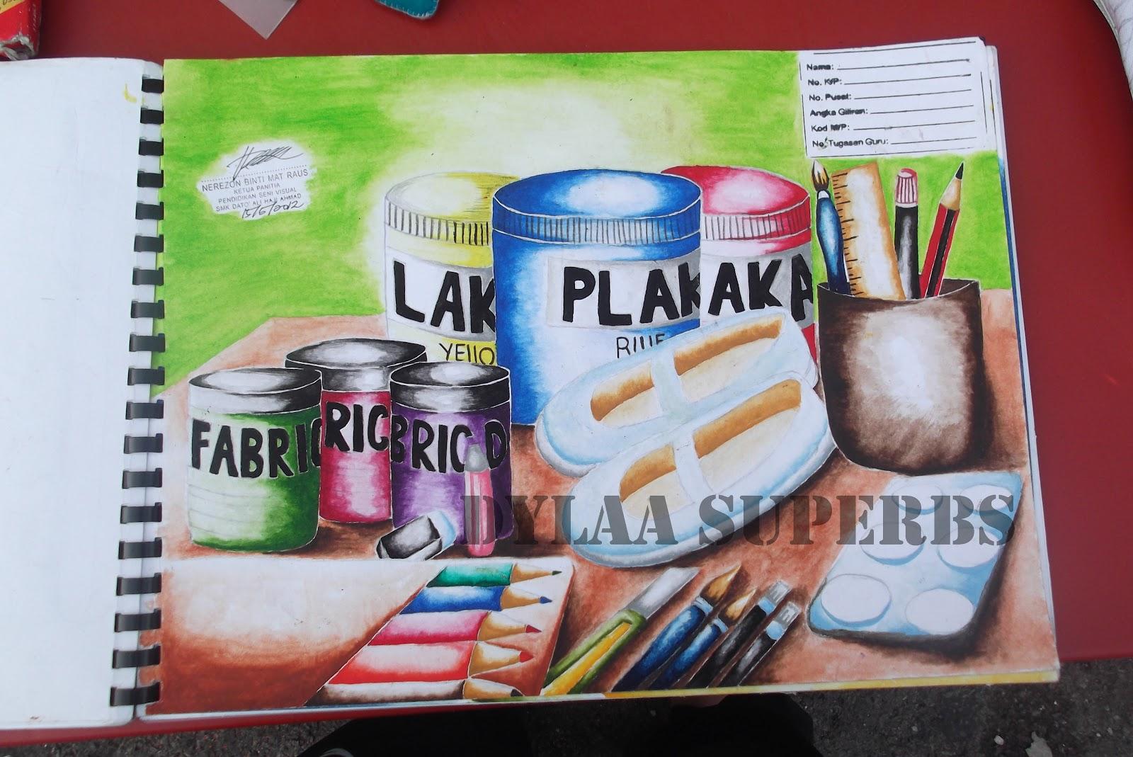 Alat Dan Bahan Lukisan Acrylic