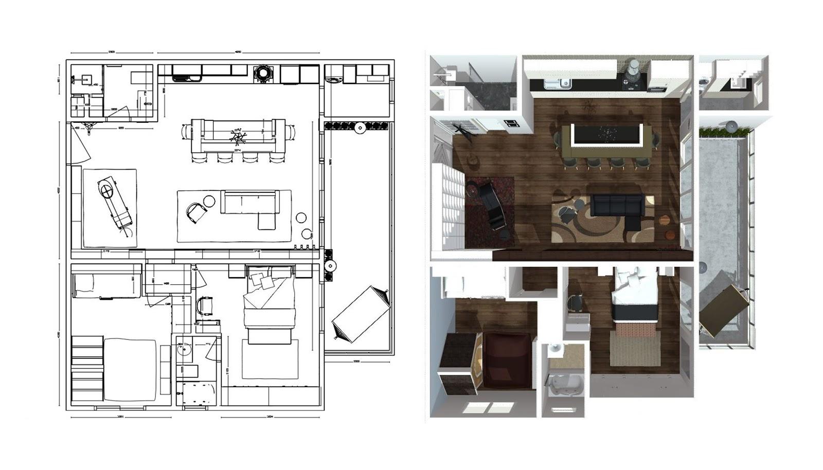 Arquitectura: Departamento Flat, 2 dormitorios, en 92.78 m2 ...