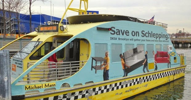 Paseo en el water taxi de ikea de brooklyn compras y for La livraison de nyc ikea