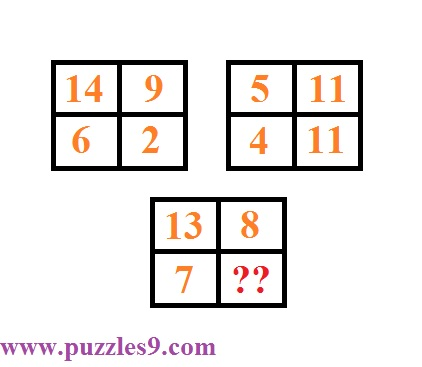 puzzles9 - puzzle 42 - find missing number in logical reasoning puzzle