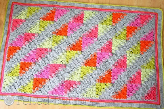 Puzzle Patch Blanket (crochet pattern by Susan Carlson of Felted Button)