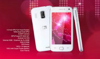 Himax Pure HP Android layar 4 inch harga dibawah Rp 2 juta