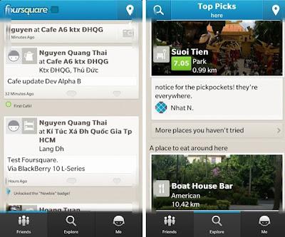 El día de hoy se ha actualizado la aplicación Foursquare para BlackBerry 10 a la versión 10.2.0.674 desde BlackBerry World. Foursquare te ayuda a a ti y a tus amigos a sacar el máximo provecho de dónde se encuentren. Únete a los más de 25 millones de personas que ya están en Foursquare y descarga la aplicación gratuita! Características de está aplicación: Comparte y registra los lugares que visitas. Busca los mejores lugares para visitar. Recibe cotizaciones y ofertas personalizadas según el lugar donde te encuentres y a donde tus amigos han sido. Descubre consejos y listas de expertos locales,
