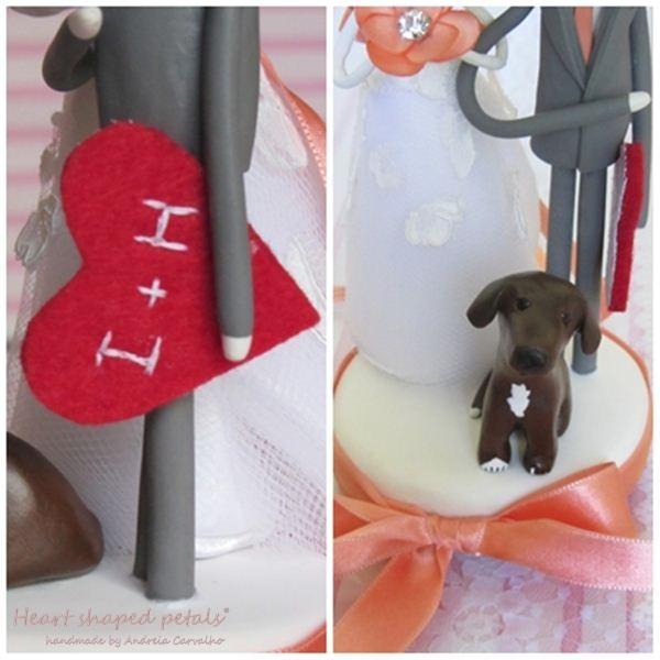 topo de bolo personalizado com cão