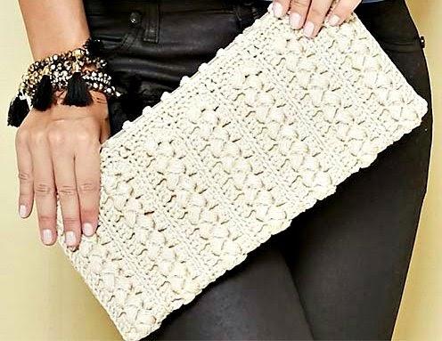 carteiras e bolsas em croche com receita