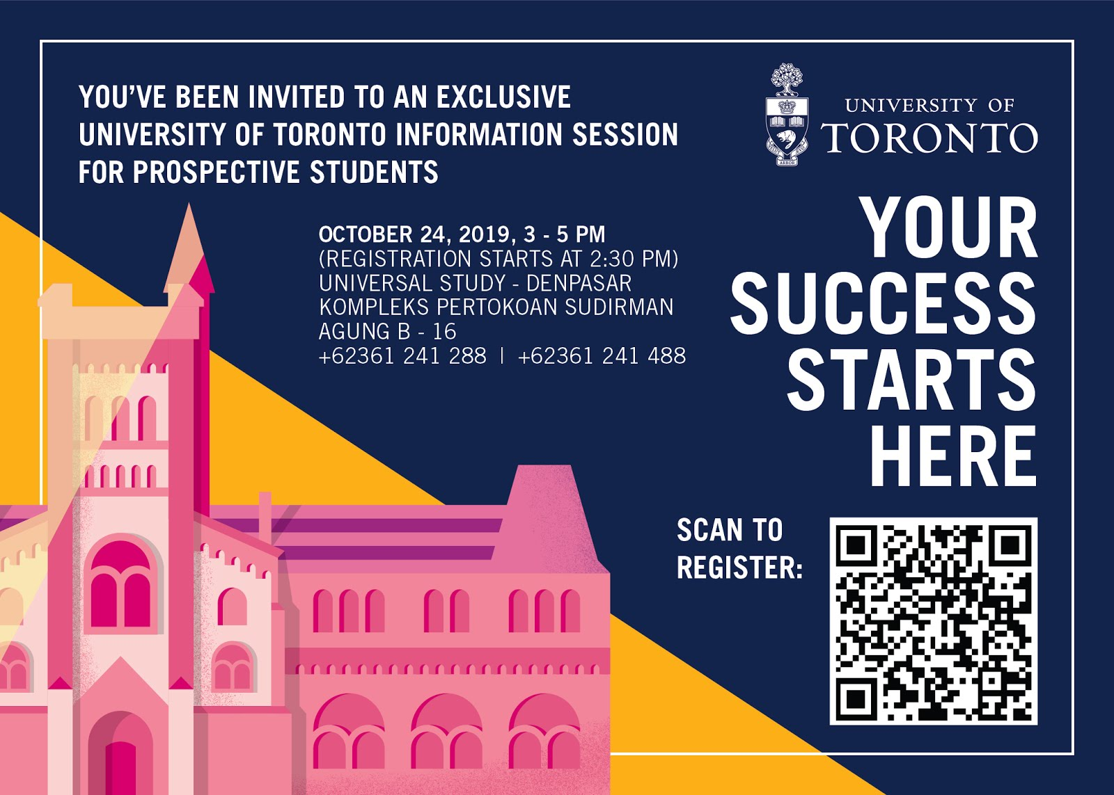Info Session: Univ of Toronto @BALI