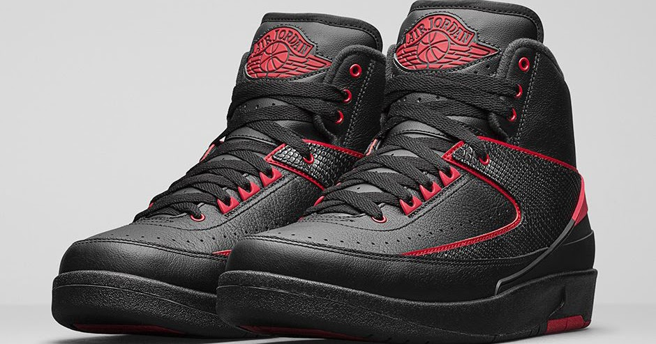 air jordan 2 black varsity red