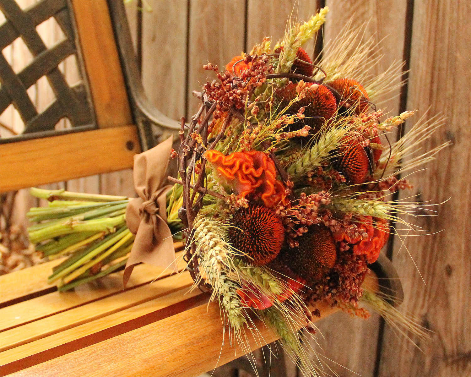 Sea of Blossoms Earthy Fall Wedding Bouquet