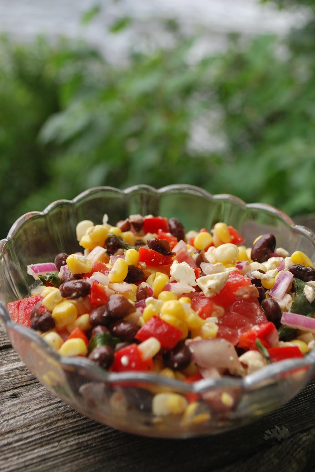 Scrumpdillyicious: Black Bean, Corn and Feta Salad