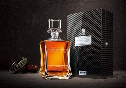 whisky bottle of limited-edition Johnnie Walker McLaren Mercedes Whiskey