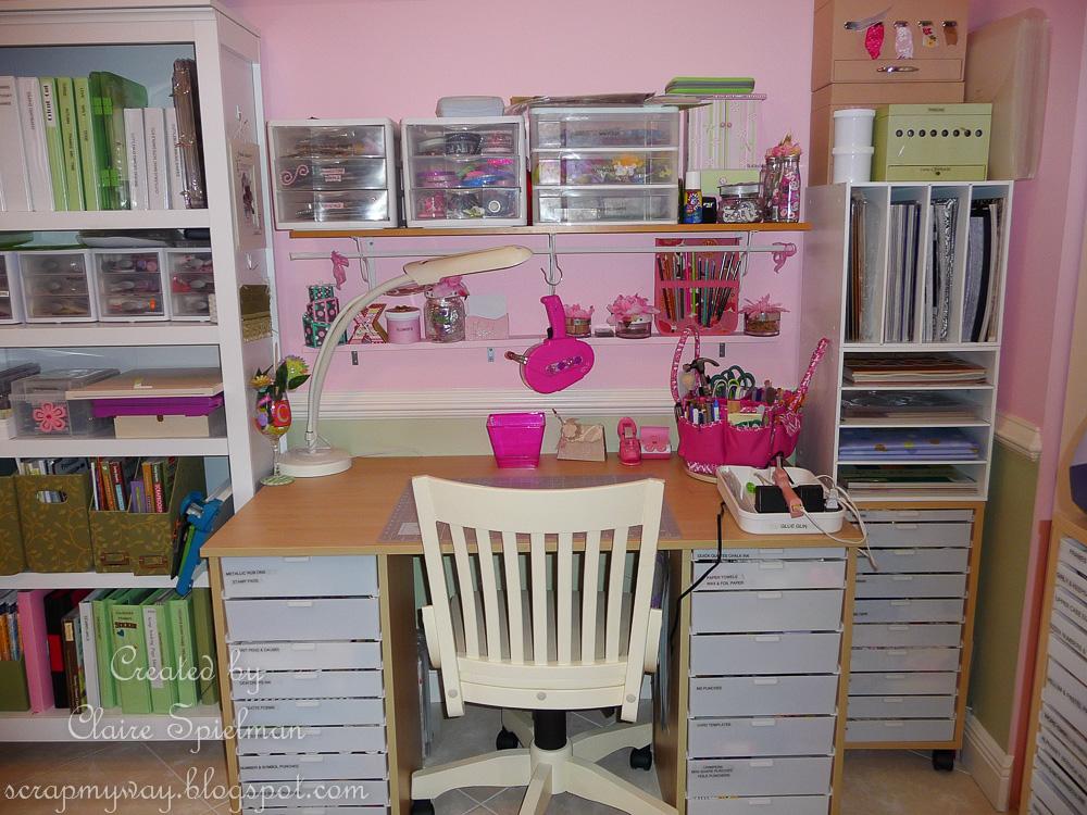 Scrap my way my craft room 2013 for Cricut mini craft room