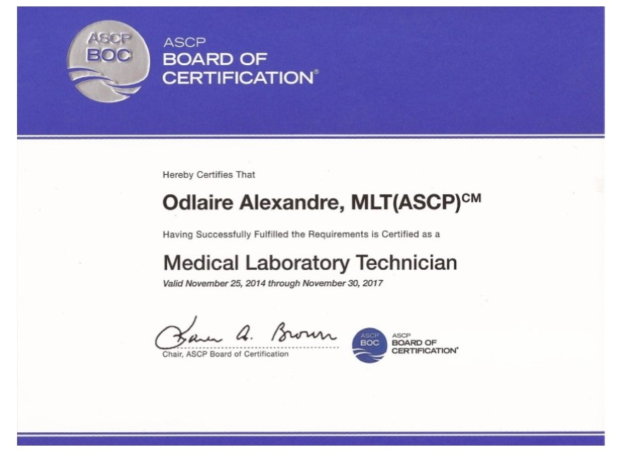 Examples Of Best Certificate Ascp Certification