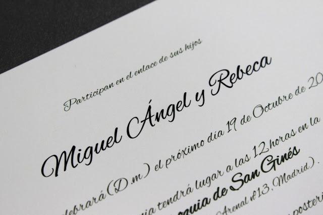 invitaciones de boda originales texto clásico hermanas bolena