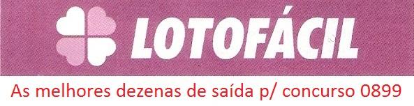 dezenas quentes lotofacil 0899 Dezenas quentes para o concurso 0899 da lotofácil