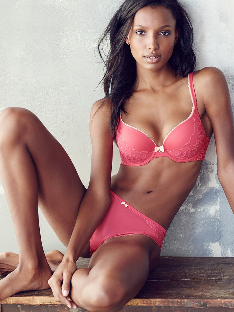 Jasmine Tookes sizzles in lingerie for the Victoria's Secret July 2015 Lookbook