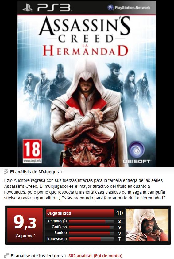 Assassin´s Creed: La Hermandad -PS3-