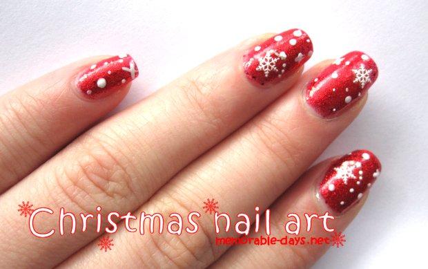 Christmas Snowflakes Nail Art Tutorial Memorable Days Beauty