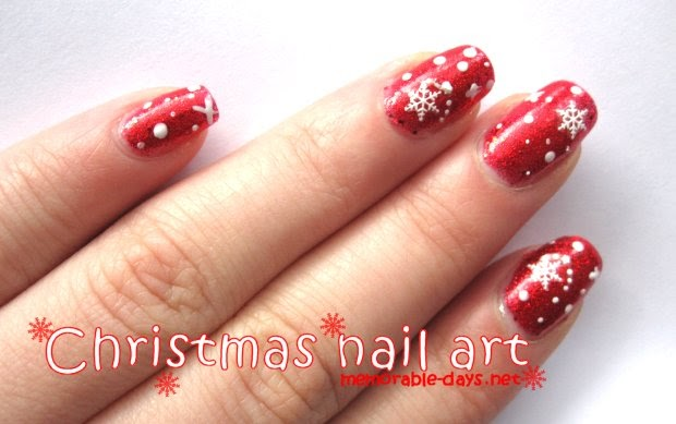 christmas snowflakes nail art tutorial