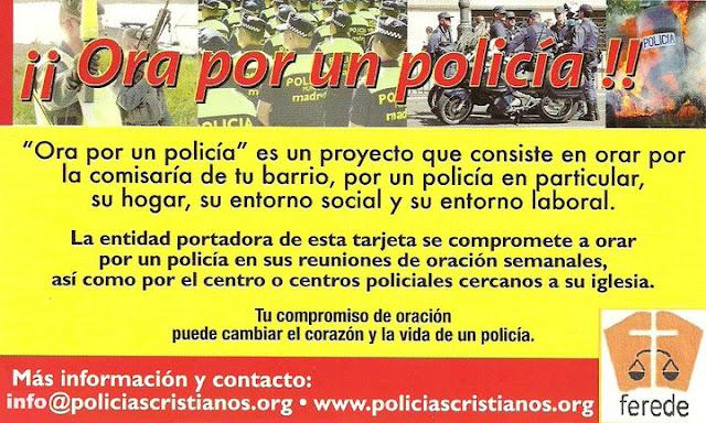 Ora por un policía. La iniciativa de Policías Cristianos de la FEREDE
