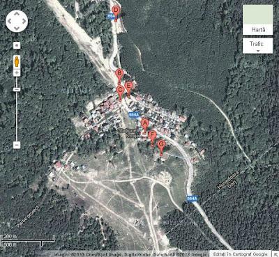 Vila Alpin Straja vazuta din satelit