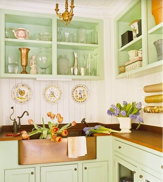 Mint Green Kitchen: Sweet Inspired Home: Copper And Mint Kitchen Inspiration