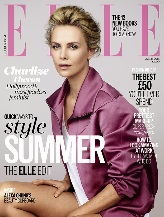 Actress @ Charlize Theron by Bjarne Jonasson for Elle UK, June 2015