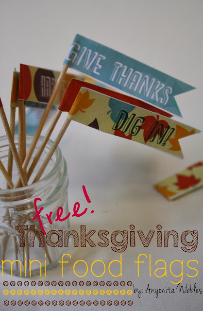 Free Thanksgiving Mini Food Flag Printables from www.anyonita-nibbles.com
