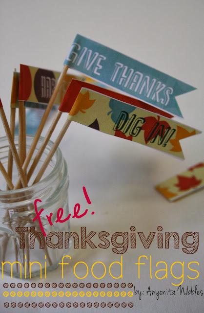 Free Thanksgiving Mini Food Flag Printables from www.anyonita-nibbles.com