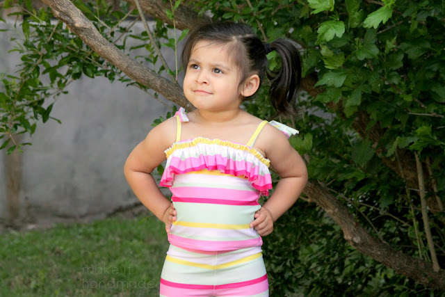 Peekaboo Pattern's Paridise Bay Tankini by Make It Handmade