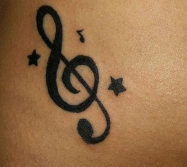 PhotoFunMasti: Music Notes Tattoos