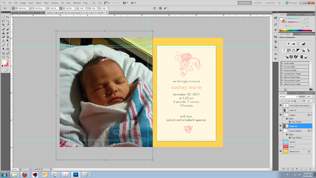 how to add a picture to birth announcement