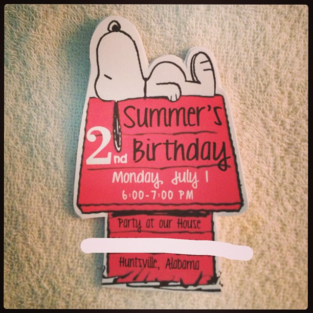 Planning for a Snoopy Birthday Party – Snoopy Party Invitations