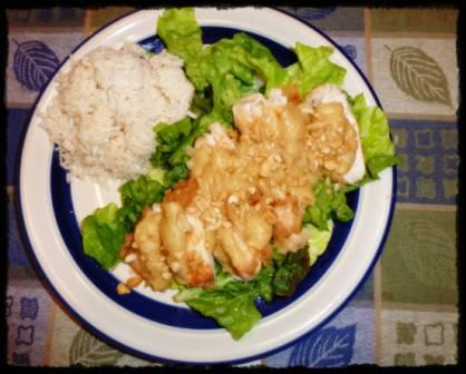 mandarin chicken with lettuce