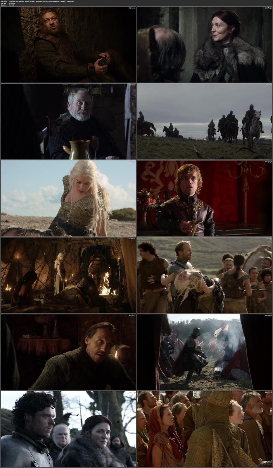 Game of Thrones S01E09 Dual Aduio Hindi 400MB 720p
