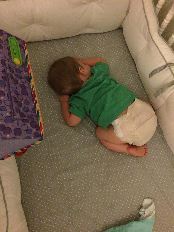 how to get 3 month old to nap in crib