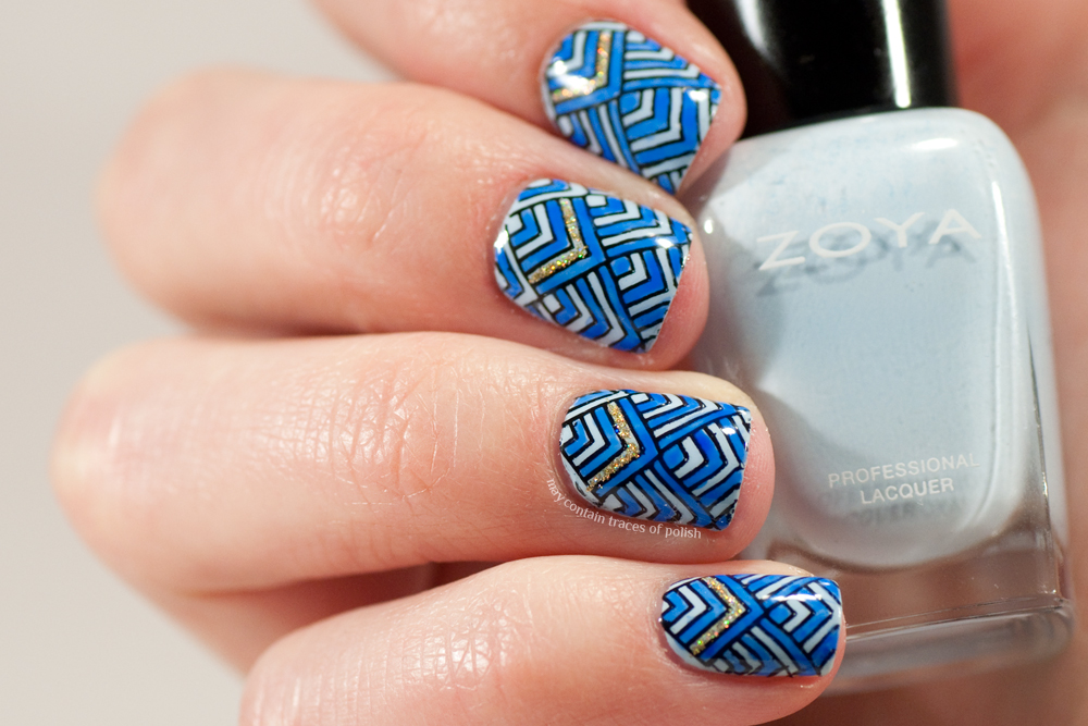 40 Great Nail Art Ideas Pale Blue May Contain Traces Of Polish