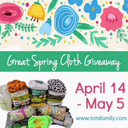 2nd Annual Great Spring Cloth Giveaway. Over $400 in Prizes!
