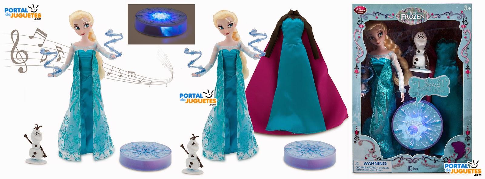 muñeca elsa cantarina edicion deluxe frozen disney store