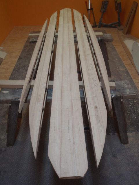 how to make a chambered wood surfboard