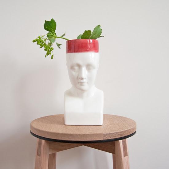 Safari Fusion blog | Phrenology Vase (Bo Kaap) | Human bust head vase by Safari Fusion www.safarifusion.com.au