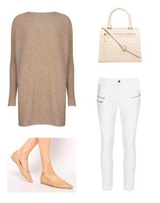 Fifty Friday | Camel and white Denim