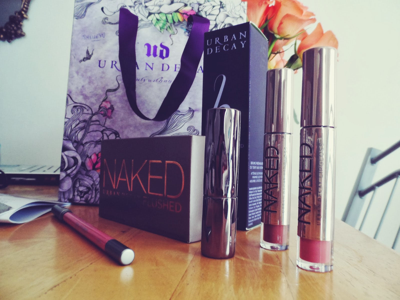 urban decay blogger gift bags, naked flushed, lipstick, b6
