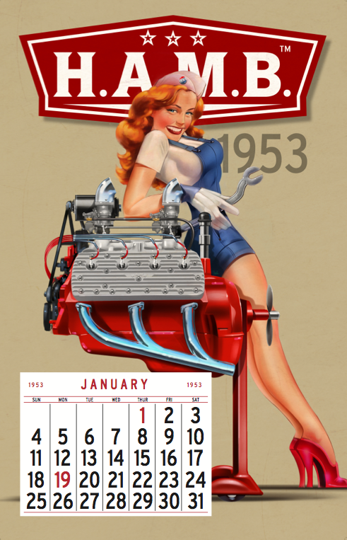 Miss Lube Rack….. 1953