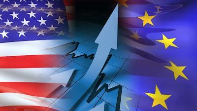 la-proxima-guerra-bandera-eeuu-estados-unidos-union-europea-sanciones-iran-petroleo-bolsa