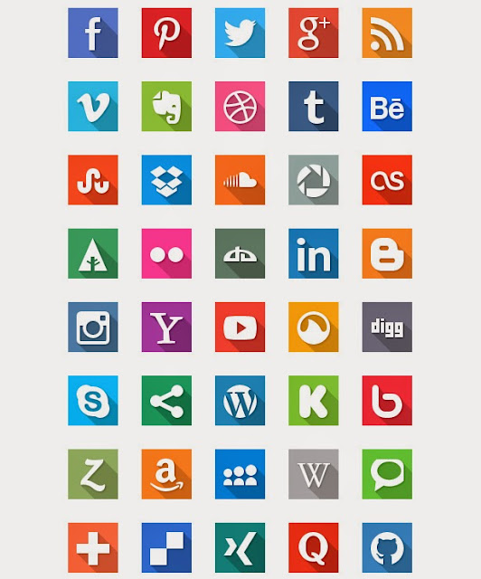 Ressources Web du Lundi #006 by Iscomigoo Webdesign: 40 Social Media Icons
