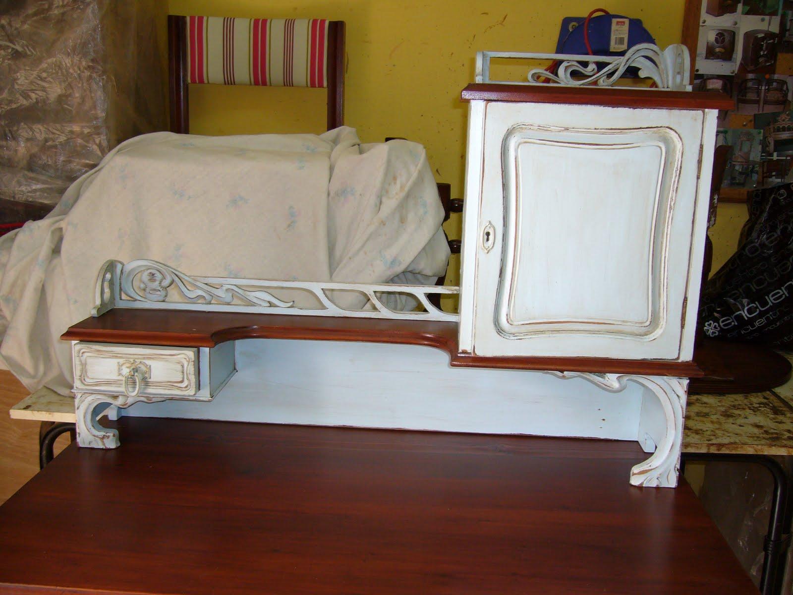 Muebles Patinados Dos Azules La Restauradora De La Laguna # Muebles Restaurados En Blanco