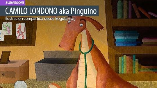 Ilustración. Dragón de Camilo Londoño aka Pinguino