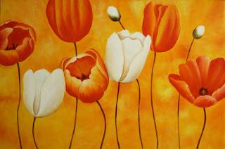 Oleos y cuadros flores for Imagenes de cuadros abstractos texturados